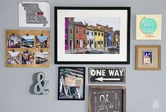 What a great way to display your travel experiences! A travel-themed gallery…