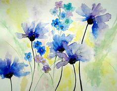 Watercolor Flowers, Watercolor Tattoo, Watercolor Paintings, Poppy, Art, Art Background, Water Colors, Kunst, Flower Watercolor