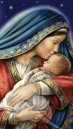 Jesus And Mary Pictures, Mother Mary Images, Images Of Mary, Mary And Jesus, Catholic Prayers, Catholic Art, Religious Art, Jesus Christ Images, Jesus Art