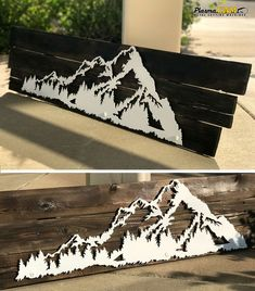 Plasma cutter art, Metal art projects, Wood wall art, Wood creations, Rustic art, Wooden art - Mountain Art Scene on Barnwood  Cut with a PlasmaCAM machine  cncplasma metalart mountains barnwood rusti -  #Plasmacutter #art