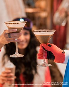 The Chocolatini is great while doing DIY craft projects or watching someone else try and do DIY craft projects. Just mix .75oz Smirnoff Vanilla, .75oz Godiva Chocolate Liquer, pour into a glass rimmed with chocolate shavings.