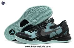 the latest 6441c a26f7 Authentic Nike Zoom Kobe 8 (VIII) Basketball Shoes Black Jade For Wholesale