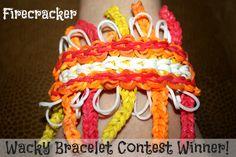 Wacky Rainbow Loom Bracelet Contest Winner!