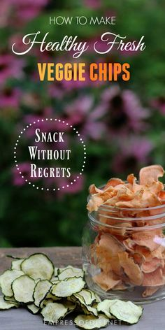 These crispy baked vegetable chips can be made in the oven without a dehydrator. Choose favorite veggies like sweet potatoes, beets, carrots and more and customize them with your favorite seasonings. Vegetable Chips, Vegetable Snacks, Healthy Vegetables, Veggies, Dried Vegetables, Vegetable Recipes, Healthy Chips, Healthy Snacks, Healthy Recipes