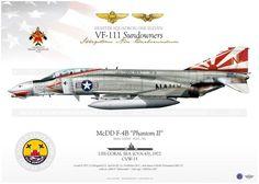 """4B """"Phantom II"""" 201 VF-111 """"Sundowners"""" JP-172 - AviationGraphic ..."""
