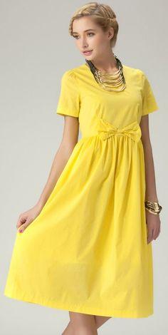 Yellow Bowknot Dress...cute!