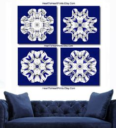Navy Wall Decor cobalt blue white living room wall decor royal blue bedroom | navy
