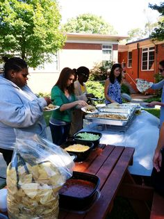 Ketchum South (Atlanta) is serving Moe's Southwest Grill's taco bar for lunch. Pass the jalapeños, please! #NOM #KSR2013