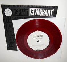"ALKALINE TRIO burn w/ BBC zane lowe session 7"" RED Vinyl Record vagrant records #punkPunkNewWave"