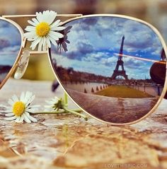 eiffel tower reflection photography france flowers paris sunglasses cool eiffel tower