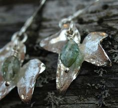 Silver Ivy -earrings. #HANDMADE IN #FINLAND. -Petran korut.