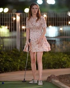"#NYC, #ZoeyDeutch Zoey Deutch - Playing Miniature Golf on Set of ""Set it Up"" in NYC 06/15/2017 