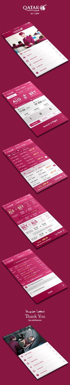 Flight Booking App IOS 7 | Designer: Yasser Achachi