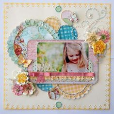 I love the bright pastels and the circular elements on this page. Bliss by Jk73 on Scrapbook.com