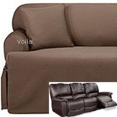 Reclining Sofa Slipcover Suede Chocolate Surefit Couch Slip Cover Slipcovers Pinterest And Recliner