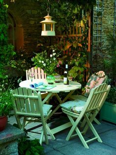 cottage Garden room 47 Small Courtyard Garden with Seating Area Design Ideas