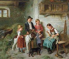 Adolf Eberle (München 1843-1914) Die kleinen