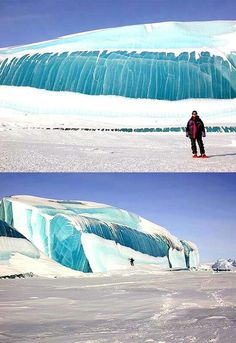 Transparent wave like formations at the artic base of Dumont