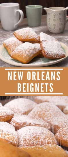 New Orleans Beignets We& show you how to make pillowy, powdered sugar-cove. Einfache Rezepte , New Orleans Beignets We& show you how to make pillowy, powdered sugar-cove. New Orleans Beignets We& show you how to make pillowy, powde. Dessert Simple, Creole Cooking, Snacks Sains, Savoury Baking, Bread Baking, Baking Cakes, Yummy Cookies, Cake Cookies, Recipes