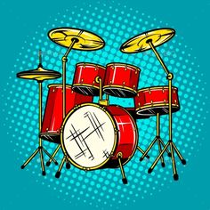Buy Drum Set Musical Instrument Vector Illustration by AlexanderPokusay on GraphicRiver. Drum Drawing, Wall Drawing, Music Collage, Art Music, Art Pop, Music Drawings, Art Drawings, Beach Boy, Drums Art