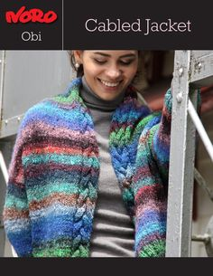 Obi Cabled Jacket [Y-970] | Knitting Fever Yarns & Euro Yarns