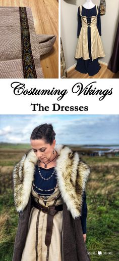 Costume Tutorial for Historically Inspired Vikings for Renaissance Festival, Reenactment, and Cospla Medieval Dress Pattern, Medieval Tunic, Viking Tunic, Viking Dress, Tunic Pattern, Viking Cosplay, Viking Costume, Medieval Costume, Celtic Costume