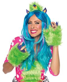 LAA1950 Leg Avenue One Eyed Olive Furry Monster Kit #fancydress #sexycostumes #halloween #costumes #fancydressparty #monster #fancydresses