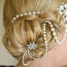 1920s inspired wedding headdresses by Euphoria