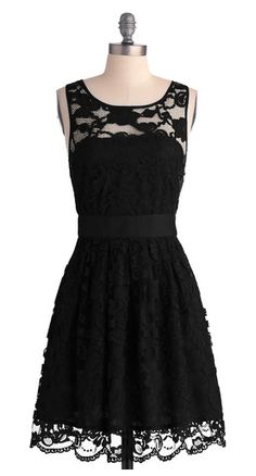 little black dress... I have a thing for lace. add a little leather and you have yourself a winner.