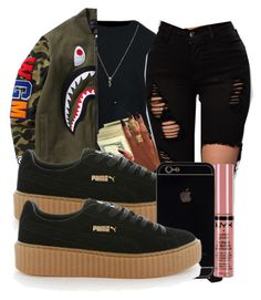 """""""Babe"""" by brxxklyn-xo on Polyvore featuring Yves Saint Laurent, Puma and NYX"""