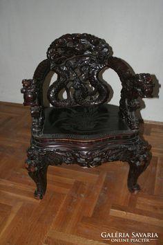 eladó fekete karfás antik székek galériasavária