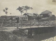 Ponte 17 de novembro, Cruzeiro do Sul, Acre, início do século XX. Arquivo Nacional. Fotografias Avulsas. BR_RJANRIO_O2_0_FOT_00195_006