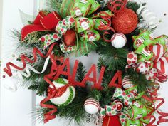 """This wreath will have you singing """"DECK THE HALLS"""" in no time!  Check out this site for more ideas..."""
