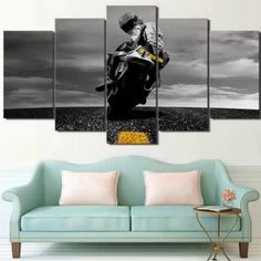 5 Piece Canvas Valentino Rossi Moto Poster HD Printed Wall Art Home Decor Canvas Painting Picture canvas wall poster painting. Subcategory: Home Decor. 5 Piece Canvas Art, Canvas Wall Art, Big Canvas, Valentino Rossi, Canvas Pictures, Pictures To Paint, Wall Pictures, Custom Canvas Prints, Wall Art Prints