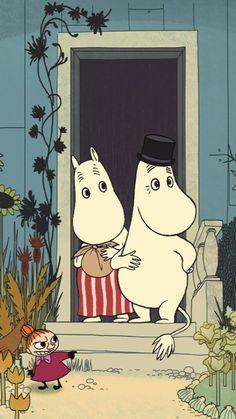 Moomin Wallpaper, Cute Disney Wallpaper, Iphone Wallpaper, Little My Moomin, Les Moomins, Fish Aquarium Decorations, Moomin Valley, Tove Jansson, Cartoon Shows