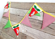 Apple Spice theme paper bunting great room or by SummerLimeDesigns, $12.95