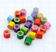 colored pencil craft...you can drill hole in them and make them into beads to string too! Adrianna would love this :)