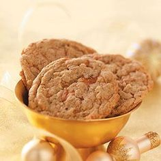 Butterfinger Cookies Recipe -These great cookies don't last long—make a double batch! —Carol Kitchens, Ridgeland, Mississippi