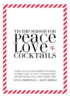 Peace, Love + Cocktails Invitation