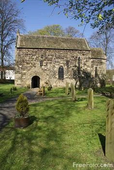 This gorgeous little Saxon church in Escomb- Durham, England is the oldest church in its original form in England, 7th century. On the south wall is a Saxon sun dial which is the oldest in England