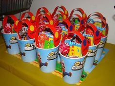 Party favors from a Super Mario Bros party #partyfavors #supermariobros @Amy Brooks