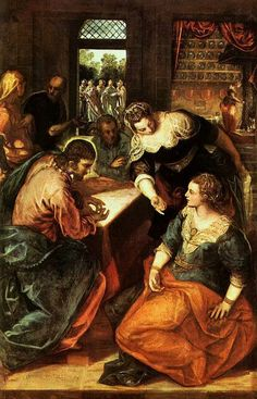 'Christ in the House of Mary and Martha', Tintoretto, 1580  Discover the coolest shows in New York at www.artexperience...