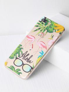 62c9dcdafb Shop Flamingo And Sunglasses Print iPhone 7 Plus Case online. SheIn offers  Flamingo And Sunglasses