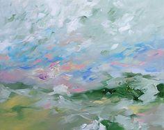 Landscape Painting Original Abstract or por lindamonfort en Etsy, $300,00