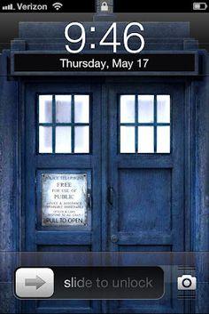 TARDIS Lock Screen, brilliant! THAT IS MY BIRTHDAY!!!!! TARDIS+MY BIRTHDAY!!!!!!