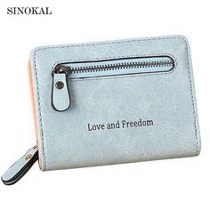 762a3effaf68 Women s Purses Cute Short Wallet PU Leather High Quality Zipper Purse Women  Small Deisign C102 Wallets