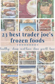 Be sure to add these EASY   HEALTHY Trader Joe's must-haves to your grocery list! Quick and easy meals have never been more simple with this list of the top frozen food options. They are the BEST items for making quick lunches, dinners or dinner-sides! Healthy Family Meals, Family Recipes, Trader Joes Frozen Food, Best Frozen Meals, Frozen Cauliflower Rice, Organic Garlic, Roasted Corn, Frozen Fruit, Dinner Sides