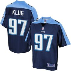 Men s Tennessee Titans Karl Klug NFL Pro Line Navy Team Color Jersey -   99.99 Packers Bart ce445643b