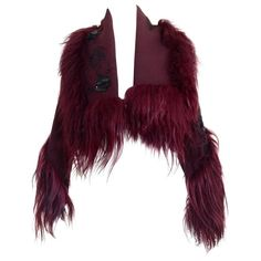Christian Dior by John Galliano ox blood wool crop jacket
