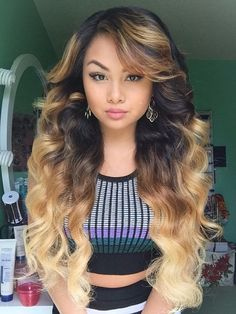 6A Ombre Hair Extensions Two Tone Color 1b #27# Body Wavy 100% Brazilian Ombre Human Hair 300g DHL free shipping WCY713